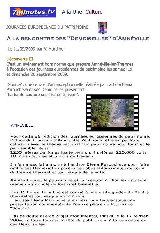 Journ es europ ennes du patrimoine 2009 - Office des oeuvres universitaires pour le centre ...